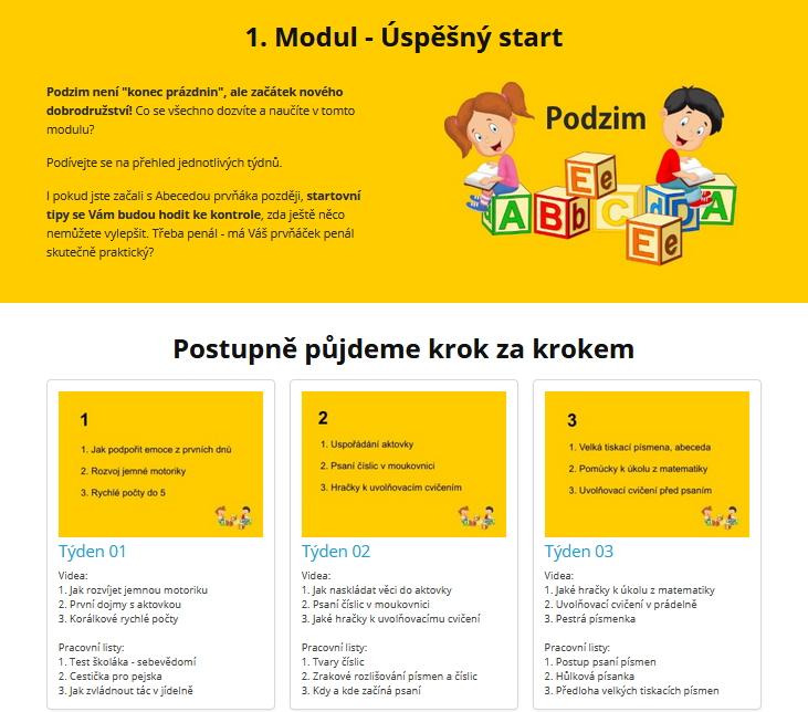 1. modul Úspěšný start podzim